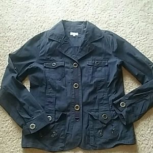 Maurices blue military style jacket